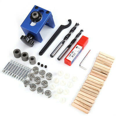 Wood Dowel Hole Drilling Guide Jig Drill Bit Woodworking Positioner Locator Tool
