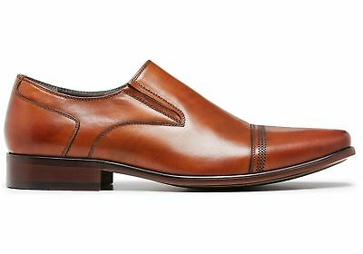 New Julius Marlow Known Mens Leather Slip On Dress Shoes