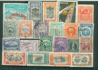 Lot Briefmarken aus Bolivien