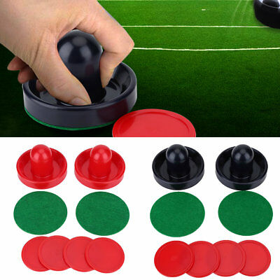 Portable Ice Hockey 2 Pusher Goalies & 4 Pucks Felt Set Replace Accessories LY