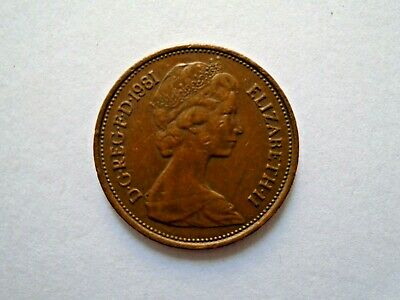 2p New Pence coin 1981 - (Two Pence Pre 1983) Free UK P&P