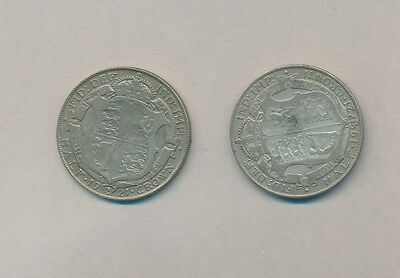 Great Britain  - Silver Half Crown 1921 (2 Coins) - New Low