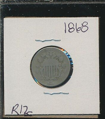 Shield Nickel - 1868 - #r12 - - Way Below Bid !