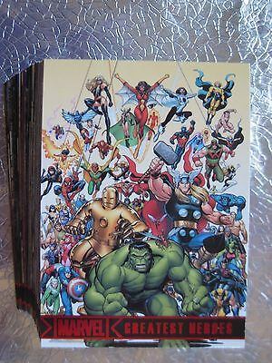 MARVEL GREATEST HEROES MGH Near Set 67 diff cards AVENGERS Rittenhouse 2012