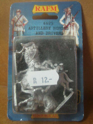 Rafm Miniatures ++ 6625 Artillery Horses and Drivers ++