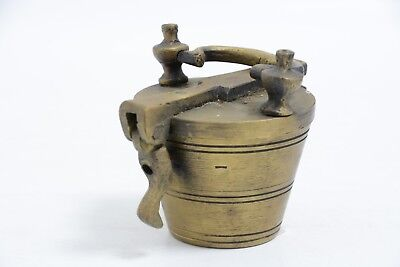 Set Of Antique Brass Weights In The Shape Of A Bucket (Ms11)
