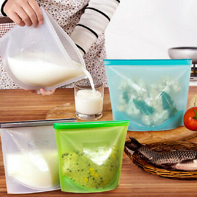 Stasher Reusable Silicone Food Storage Lunch Bag Safe Health Baby Child Kids
