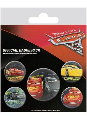 Cars 3 The Movie Characters Badge Pack