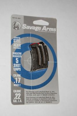 Savage & Lakefield Mark II 501, 504 and 900 5 rds Magazine Clip Stainless Steel