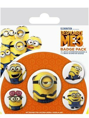 Despicable Me 3 Minions Badge Pack