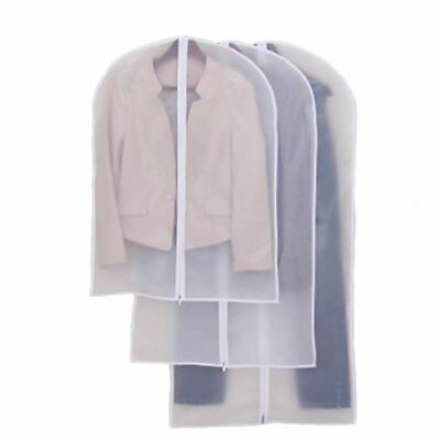 Clear Suit Jacket Dress Garment Clothes Cover Dust Protector Travel Bag with Zip