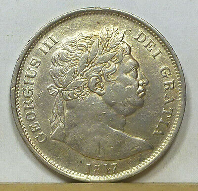 Great Britain Half Crown 1817 Extremely Fine NO RESERVE