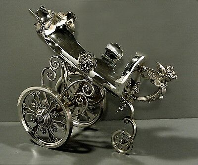 German Silver Wine Cooler  Trolley   Signed c1850       WAS  $5400 -  $3500