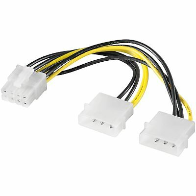 PCI Express Adapter 2x HDD Strom Adapter Stecker 4 Pin PC Computer Strom Adapter
