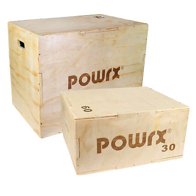POWRX Holz Plyo Box Spring Jump Stepper Sprung Cross Training Sprungbox