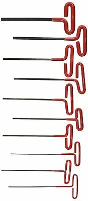ATE Pro. USA 83342 Wrench Hex Key Dipped T-Handle Metric 10 Piece Set