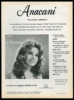 1975 Anacani photo from the Lawrence Welk Show Anahuac Records music trade ad