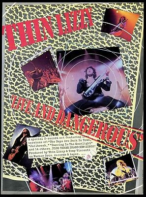 1978 Thin Lizzy photo Live and Dangerous album release music trade ad