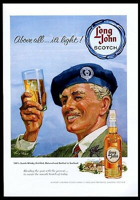 1959 Long John Scotch whisky vintage print ad