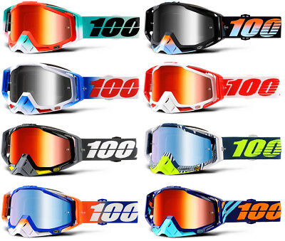 2018 100% RACECRAFT MOTOCROSS MX GOGGLES enduro bike 100 PERCENT MIRROR OR CLEAR