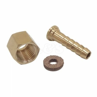 "Brass Hexagon 3/4"" BSP Female Nut and 1/2"" Hose Tail Fitting"