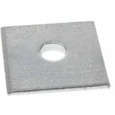 "Square Plate Washer, M24 (Hole) Size: 4"", Thick: 6mm - Each"