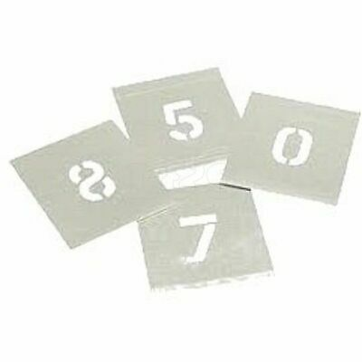 Plain Stencils 100mm 0 - 8 numbers (metal)