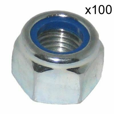 Nyloc Nuts Size: M12 (Zinc Plated) - Pack of 100