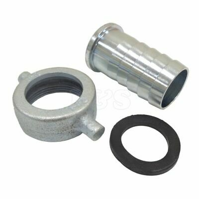 """2"""" BSP Female Malleable Iron Pump Coupling / Hose Tail & Leather Washer"""