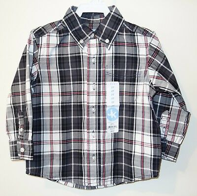 Brand New J.Khaki Black Plaid Shirt ~ Boy's Size 2T