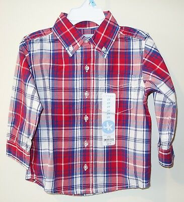 New With Tags J.Khaki Red Plaid Shirt ~ Boy's Sz 3T