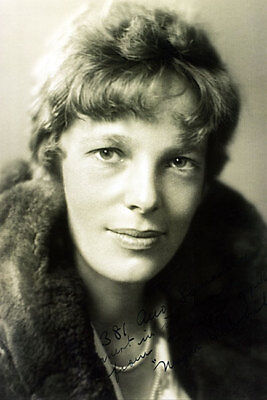 Aviator Amelia Earhart 1930 Portrait 12x18 Silver Halide Photo Print