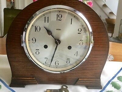 Smiths 'dupontic' Striking Mantel Clock - Working With Key