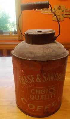 Vintage  large Chase & Sanborn tin coffee can