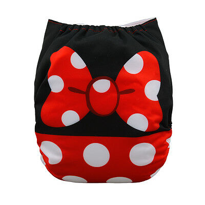 ALVA  Baby Girl Cloth Diaper Reusable Washable Pocket  +1Insert Minnie Mouse