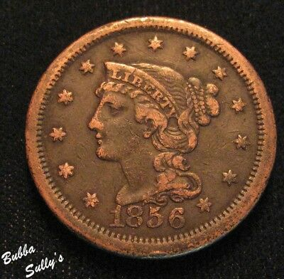 1856 Braided Hair Large Cent <> Upright 5