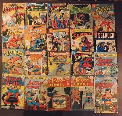 Superman, Action Comics, Flash, more...lot of 20 DC 1970's comics