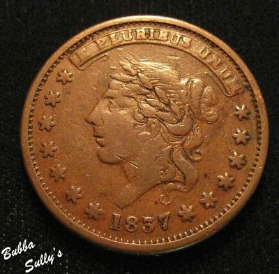 1837 Hard Times Token <> Liberty - Not One Cent <> HT 47 R1