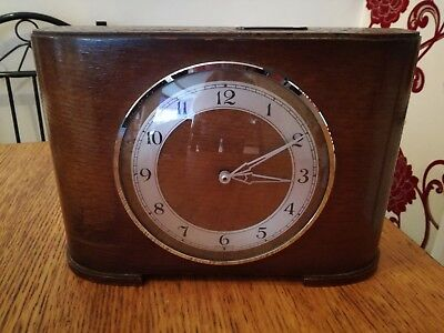 Antique Two Florins Weekly Clock Made In England Spares Or Repair