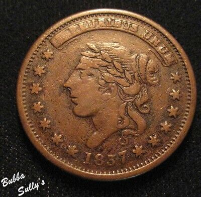 1837 Hard Times Token <> Liberty - Not One Cent <> HT 48 R1