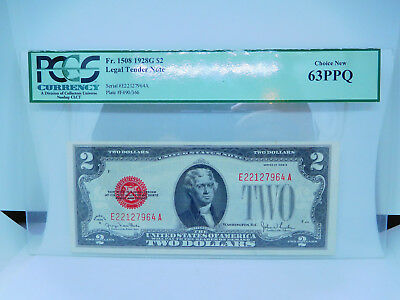 1928 G US $2 United States Note Choice New 63PPQ By PCGS