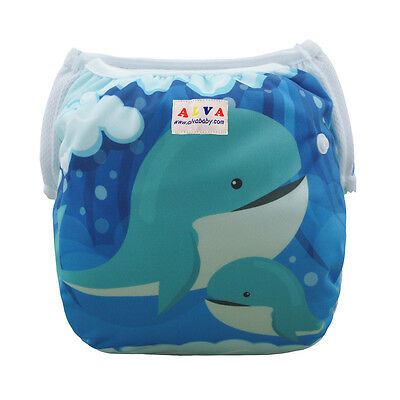 AlvaBabyBoy Swim Diaper Waterproof Comfortable Printed With Snaps Cover