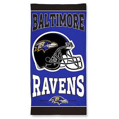 Baltimore Ravens NFL Beach Towel - 30 x 60 inches