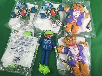Blockbusters Toys 3pcs The Muppets Kermit Fozzie & Gonzo New in Pack