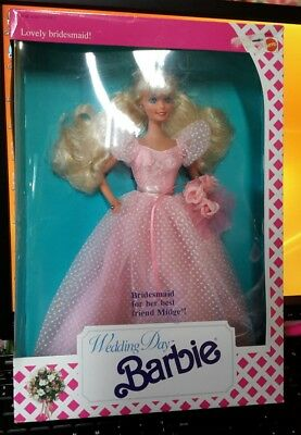 Lovely Bridesmaid Barbie Doll Wedding Day For Her Best Friend Midge NEW