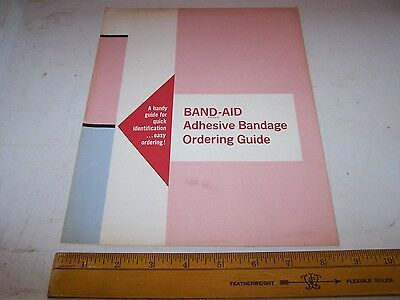 1966 Johnson & Johnson BAND-AID Adhesive Bandages Order Guide w Prices Pictures