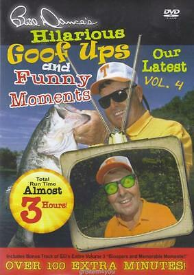 Bill Dance Fishing Bloopers Goof Ups Volumes 3 and 4 DVD NEW ~3 Hours!