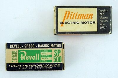 Lot of 3 Slot Car Motors 2 Revell R3398 1 Pittman DC196A 1/32 1/24 12V DC +Bonus