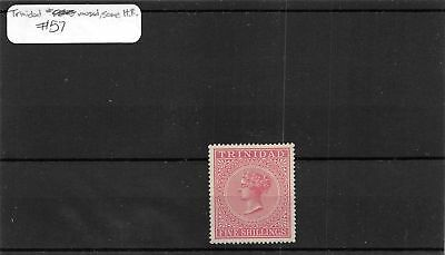 Trinidad & Tobago MH Mint Hinged Remnant 5s Stamp Scott # 57 #110319 X R