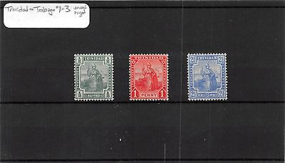 Lot of 3 Trinidad & Tobago MH Mint Hinged Stamps Scott # 1 - 3 #110317 X R